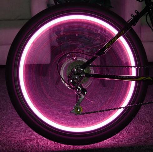 led fietswiel verlichting 20 led roze