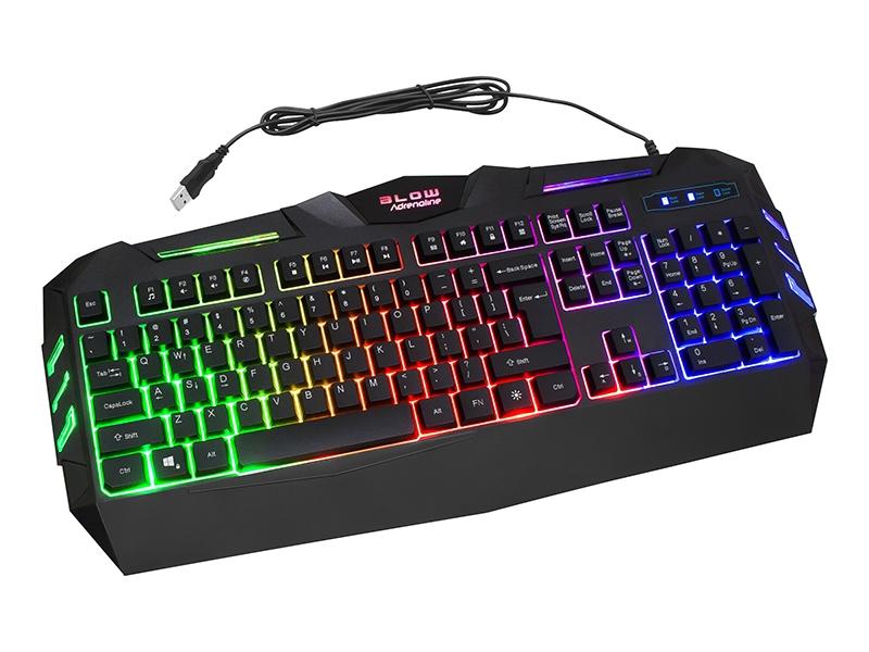 Toetsenbord Met Licht : Gaming led toetsenbord hurricane led backlight zwart prolech
